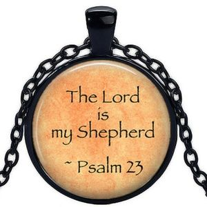 Necklace- NEW- Christian Psalm 23 Lord is Shepherd